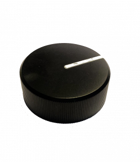 Meridian - Controlknop black (with white stripe)
