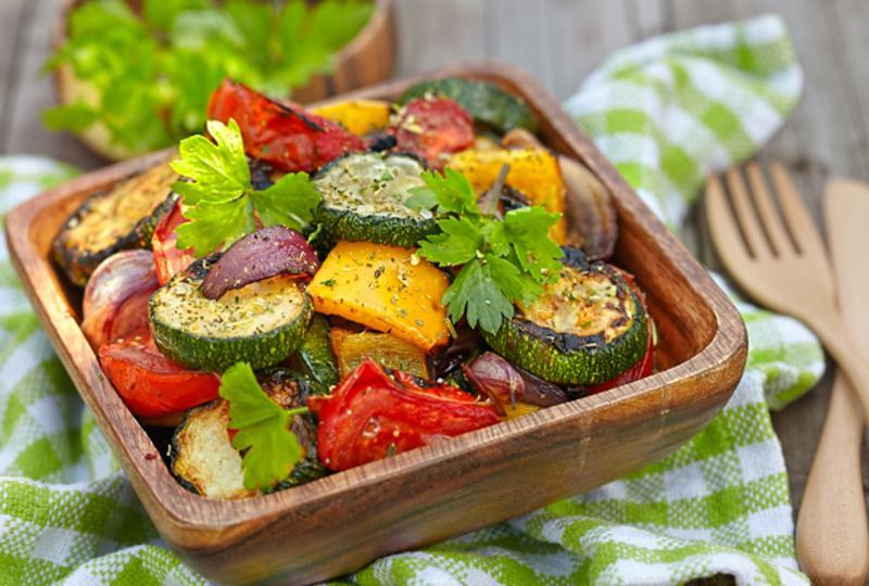 Roasted vegetable parcels
